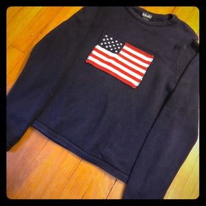 Rafaella American flag sweater